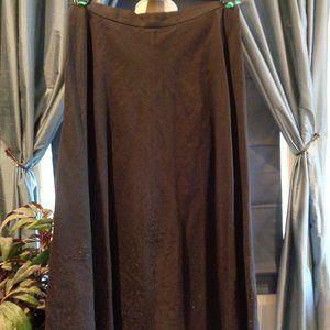 Vintage Ralph Lauren Long Eyelet Black Skirt